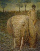 boy on elephant by Austin Manchester